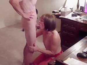 Exotic Homemade Shemale record with Stockings, Blowjob scenes
