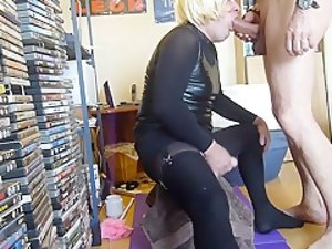 Fabulous Homemade Shemale clip with Blowjob, Blonde scenes