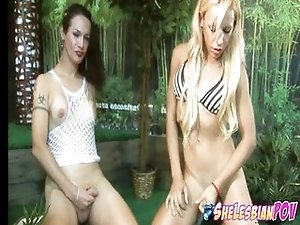 Two horny trannies Nikki and Mariana - POV